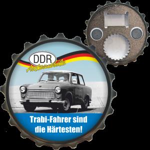 Ostalgie Flaschenöffner Öffner mit Spruch Trabi Fahrer sind die Härtesten der DDR Bieröffner Kapselöffner Kapselheber Produkte AV Andrea Verlag andrea-geschenke.de