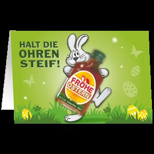 Oster-Karte-mit-Kraeuter-Likoer-Halt-die-Ohren-steif-Geschenkidee-zu-Ostern-unverpackt-AV-Andrea-Verlag-andrea-geschenke.de