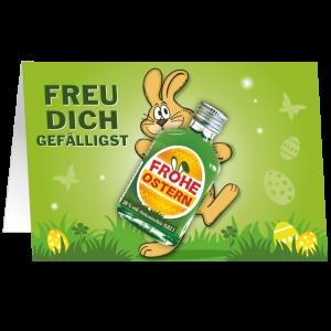Oster-Karte-mit-Pfefferminz-Likoer-Freu-dich-gefaelligst-Geschenkidee-zu-Ostern-unverpackt-AV-Andrea-Verlag-andrea-geschenke.de