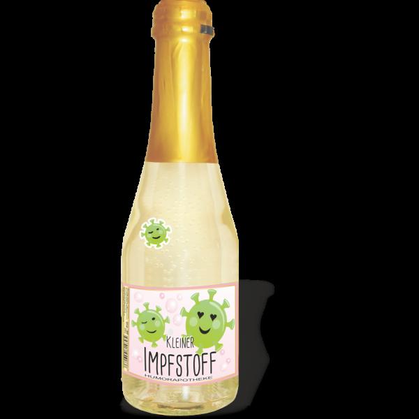 Piccolo Kleiner Corona Impfstoff Piccolo Beeren Perlwein 2 Motive andrea-geschenke.de AV Andrea Verlag Humor Apotheke einzeln2