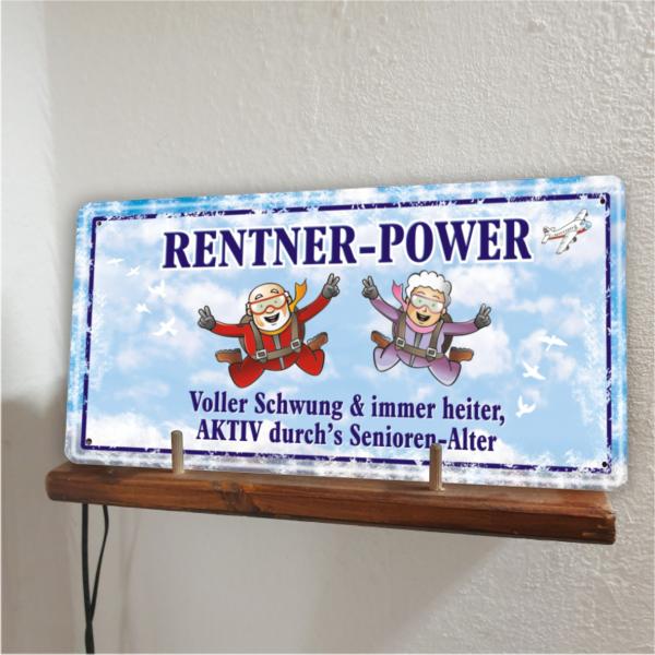 Rentner Power Metallschild 33544 Bild AV Andrea Verlag andrea-geschenke.de!