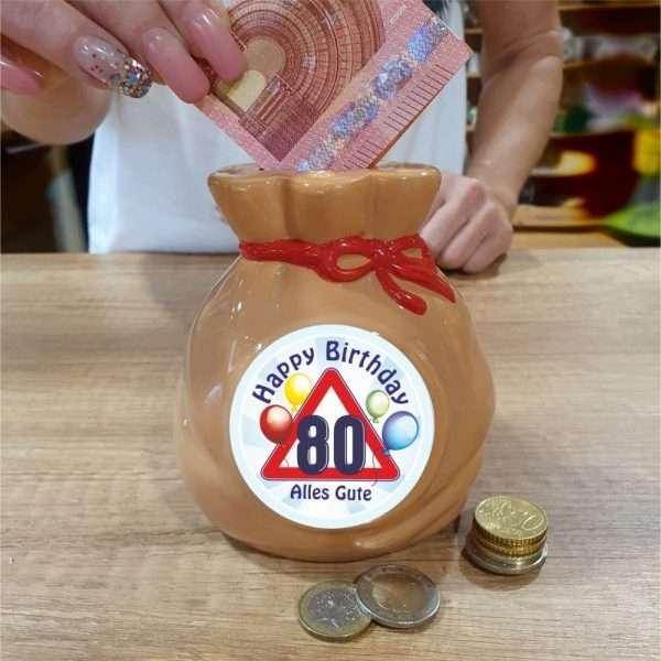 Spardose-Sparschwein-zum-80.-Geburtstag-Geld-Sack-andrea-geschenke.de-AV-Andrea-Verlag