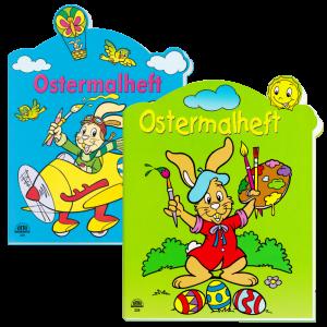 Zweier-Set-Ostermalhelfte-blau-gruen-Malhefte-zu-Ostern-mit-Farbvorlage-Kindermalheft-AV-Andrea-Verlag-andrea-verlag.de