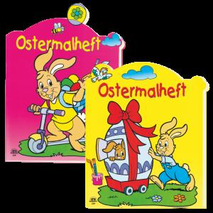 Zweier-Set-Ostermalhelfte-pink-gelb-Malhefte-zu-Ostern-mit-Farbvorlage-Kindermalheft-AV-Andrea-Verlag-andrea-verlag.de
